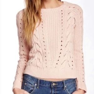 lucky Brand pink cable knit sweater 💫🩰
